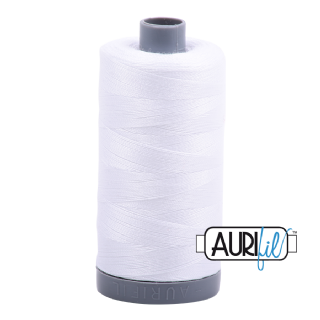 Aurifil 28 Cotton Thread - 2024 (Pure White)
